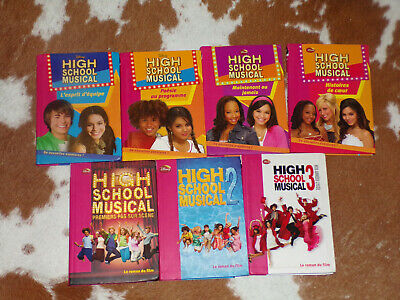 Lot 7 Livres Bibliotheque Rose-High School Musical 1, 2 & 3