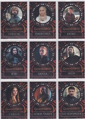Game of Thrones Valyrian Steel, Laser Cut Chase Card Set L1-18