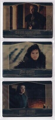 Game of Thrones Season 7, Set of 3 Archive Box Exclusive Gold Valyrian Card