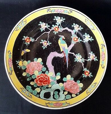 Ant. Hand Decorated Chinese Plate (Guangxu ?) Signed 8 Inch   FREE Delivery UK*