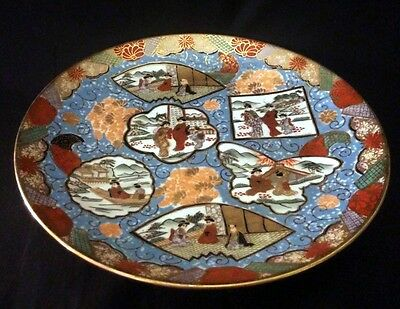 VTG Hand painted Satsuma Plate Mount Fuji Scenes 10¼ Inch | FREE Delivery UK*