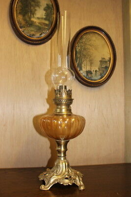 French Vintage table  Brass  Lamp with  Vintage French 1 light