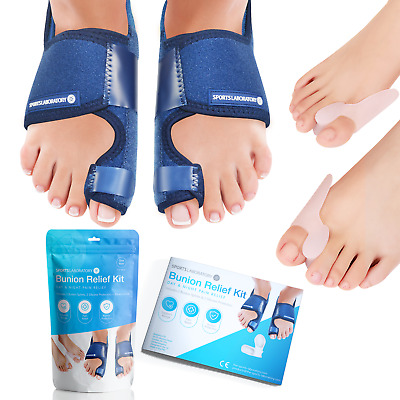 Sports Laboratory ® Bunion Corrector Complete Day & Night Kit for Hallux Valgus