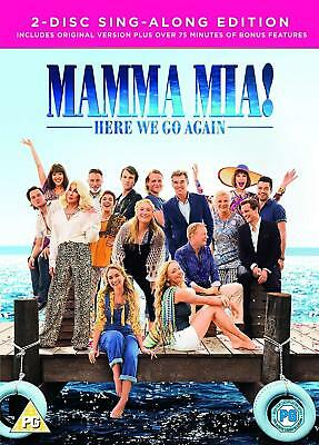 Mamma Mia! Here We Go Again & 2-Disc Sing Along Edition 2018 Uk Item New Sealed