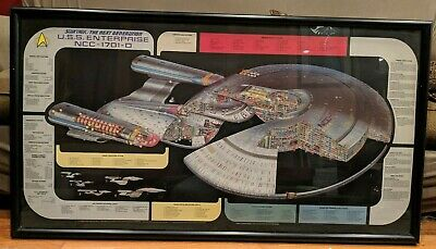 Star Trek Next Generation Uss Enterprise Ncc-1701-D Cutaway Crossection Poster