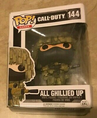 Funko Pop Vinyl Figure Video Games Call of Duty All Ghillied Up 144 NEW in box