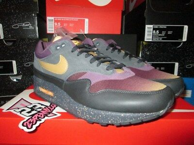 6975f9f15c7 Sale Nike Air Max 1 Premium Prm Purple Elemental Gold Anthracite 875844 002  New
