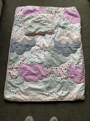 ADAIRS KIDS After the rain COT (Jnr Bed) QUILT COVER SET BNIP clouds mulitcolour
