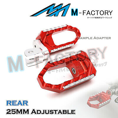 For MV Agusta F4 1000 2007+ RED 25mm Adjustable Rear Wide Foot Pegs