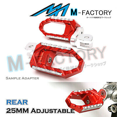 RED 25mm Extended Touring Passenger Footrests For MV Agusta F4 / 1000R / S
