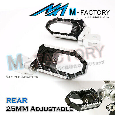 For MV Agusta F4 / 1000R / S All Year Black 25mm Adjustable Rear Wide Foot Pegs