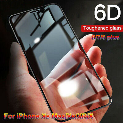 Full Cover Tempered Glass Screen Protectors For iPhone Xs Max Xr X 8 7 6s plus