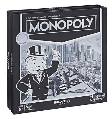 NEW & SEALED! Monopoly Silver Line Edition Board Game - Hasbro