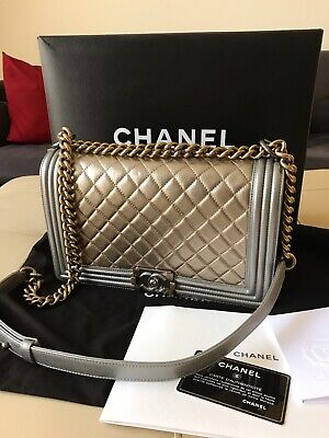 ad2a97790f72 AUTHENTIC CHANEL LIMITED New Medium Size Le Boy Hand Bag Never Used ...