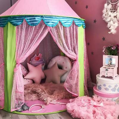 Pink Play Tent Princess Girls Kids Teepee Childrens Indoor Outdoor Play House