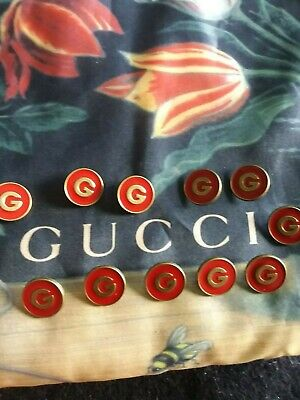 ❤💝💞100% Authentic  GUCCI  buttons lot of 4  size  20 mm  RED 2018     Logo G