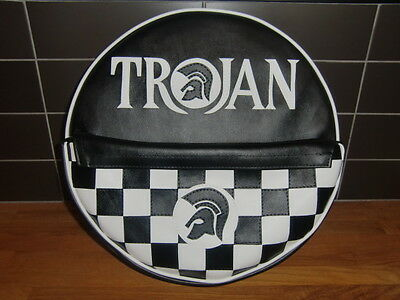 Trojan Black/ White Check Pocket Scooter Wheel Cover