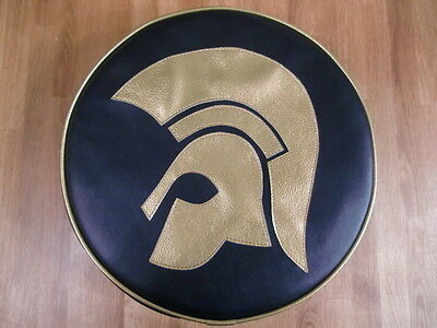 Black & Gold Large Trojan Head Scooter Wheel Cover