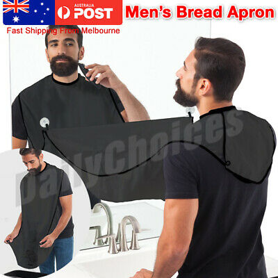 Men's Facial Hair Beard Apron Care Shaving Cape Bib Trimmings Catcher Waterproof