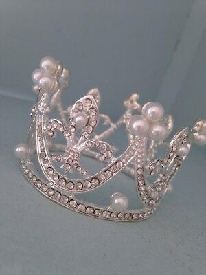 Smaller Baby Crown .crystal Rhinestone Crown . Little Crown .