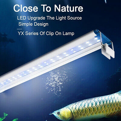 Slim LED Aquarium Light Aquatic Plant Extensible Waterproof Clip-on Lamp Band