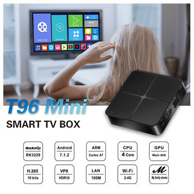 Android 7.1 WiFi Smart TV Box RK3229 Quad Core 2.4G 4K  Streaming Media Player