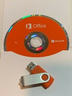 Microsoft Office Pro 2019 MS DVD USB Brand New Product Key Professional CD