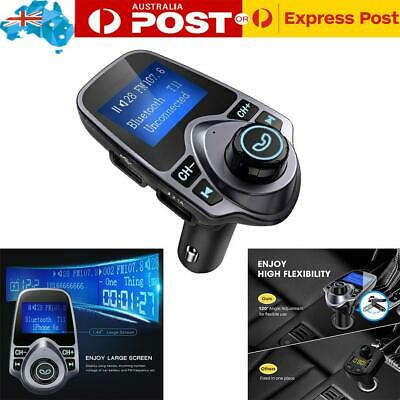 Wireless Bluetooth FM Transmitter Auto Radio Car MP3 Audio Player USB Charger AU