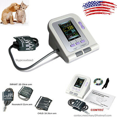 Veterinary Blood Pressure Monitor for cat/dog/animal,PC Software 3 Cuffs CONTEC