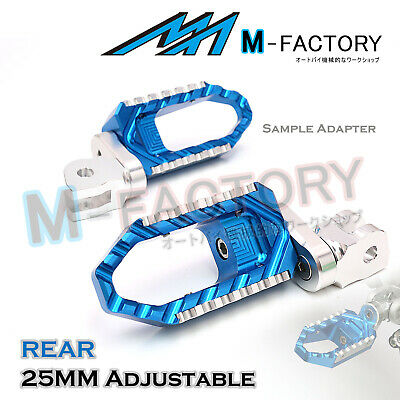 BLUE 25mm Extended Touring Passenger Footrests For MV Agusta F4 1000 2007+
