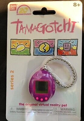Bandai Tamagotchi 20th Anniversary Series 2 Chibi Translucent Purple With Pink