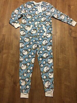 BNWT Beauty & The Beast Primark Soft all in one Pyjamas PJs Ladies XS 6-8