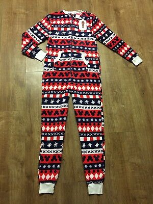 BNWT Mickey Mouse Primark Soft all in one Pyjamas PJs Ladies 2XS 4-6