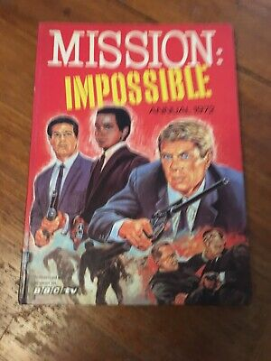 Vintage 1972 MISSION IMPOSSIBLE ANNUAL BOOK Authorised Edition as seen on BBC TV