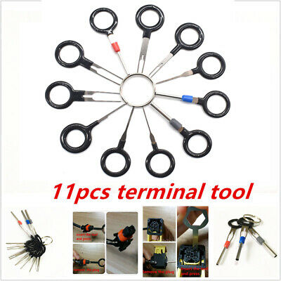 11PC Car Terminal Removal Tool Wiring Connector Extractor Puller Release Pin TA