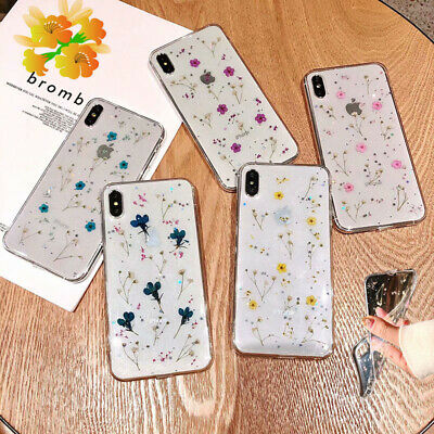 Shockproof Flower Patterned Clear Soft TPU Case Cover For iPhone XS Max XR 8 7 6