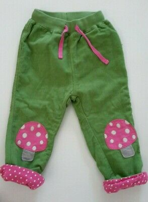 Frugi Cord Patch Trousers Green mushroom patch 18 - 24 months