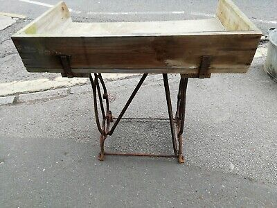 Vintage Cast Iron and zinc top garden table we can deliver please contact us