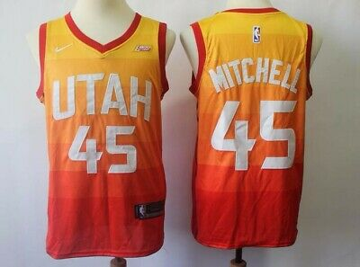 7d24b4c61ba2 DONOVAN MITCHELL Utah JAZZ Nike WISH Orange CITY EDITION Swingman Jersey