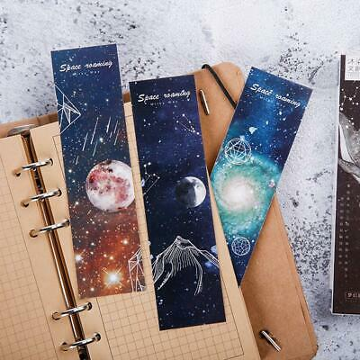 30Pcs Travel Space Bookmark Flags Book Mark Page Marker Novelty Set Gift 2019
