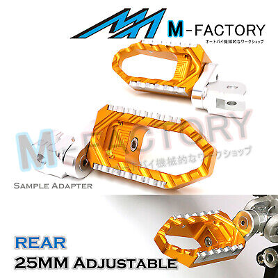 GOLD 25mm Extended Touring Passenger Footrests For MV Agusta F4 / 1000R / S