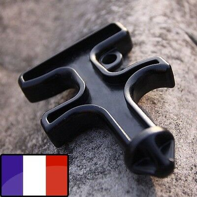 Self Défense Outil Nylon Stinger Duron Keychain Porte Clefs Pointe Black France