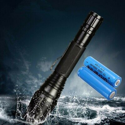 Tactical 50000LM T6 Flashlight Military LED Rechargeable Torch Zoomable