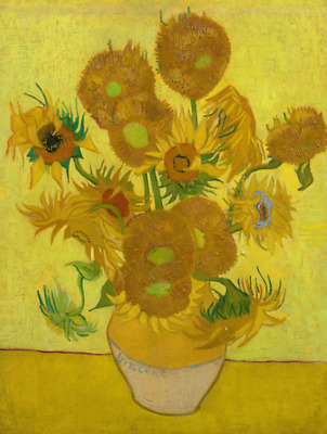 Twelve Sunflowers by Vincent Van Gogh Giclee Fine Art Print