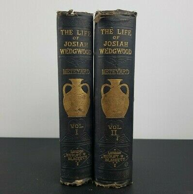 The Life of Josiah Wedgwood - RARE 1865 Antique Books - Volume 1 and 2