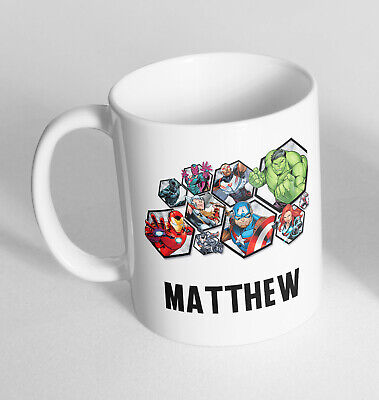 Personalised Any Name Avengers Printed Ceramic Novelty Mug Funny Gift Coffee Tea