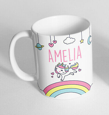 Personalised Any Name Unicorn Printed Ceramic Novelty Mug Gift Coffee Tea 2