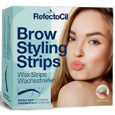 RefectoCil Brow Styling Strips 20 Wax Strips 40 Applications Eyebrow Shapers