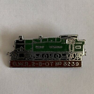 GWR Great Western Railway Steam Train Badge Pin 2-8-OT No5239 Collectable