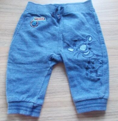 Disney Baby Boys Navy Joggers With Tigger Design On Front Size 3-6 Months